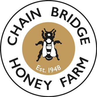 The chain bridge honey farm logo