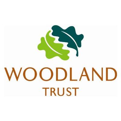 woodland trust logo including two oak leaves