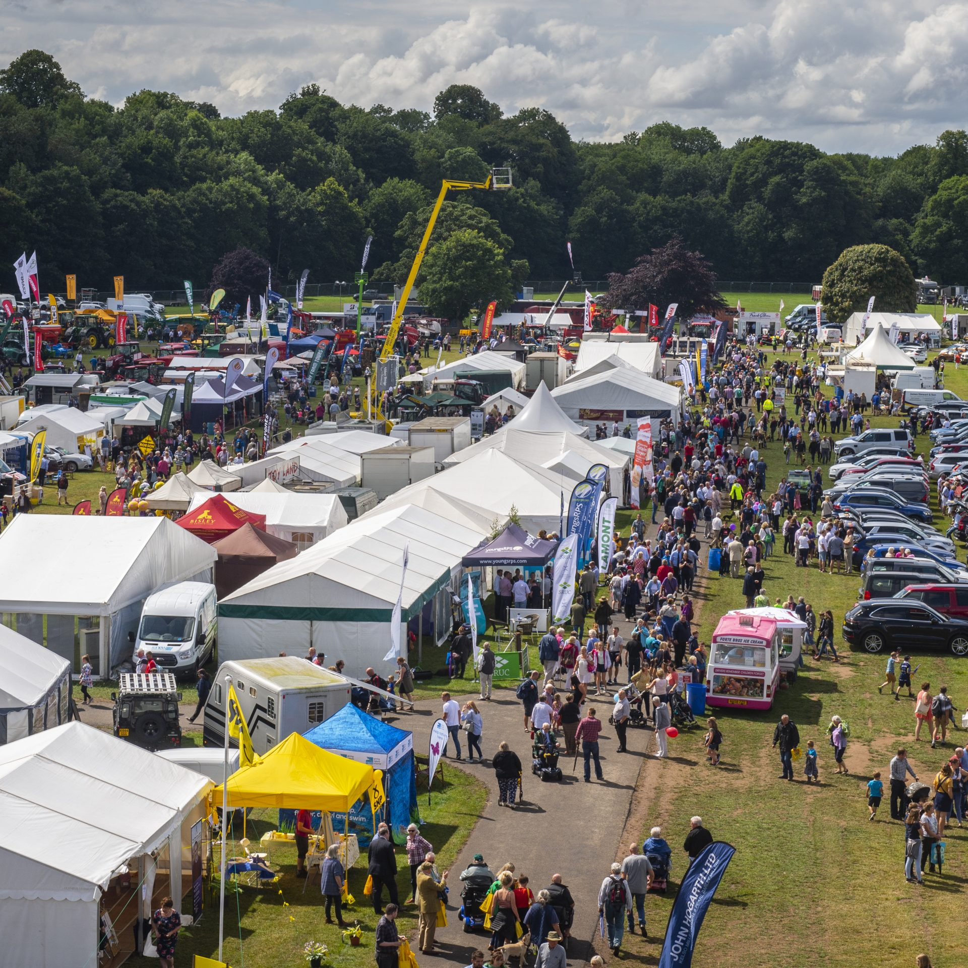 Birds Eye view of Kelso Show