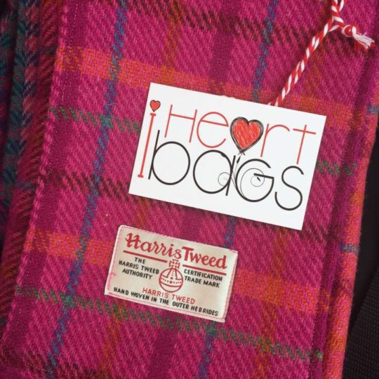 I Heart Bags made from Harris Tweed